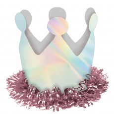 Magical Rainbow Party Supplies - Iridescent Crown Hair Clip