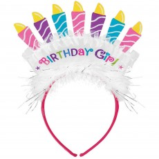 Happy Birthday Fabric Cake Headband Head Accessorie