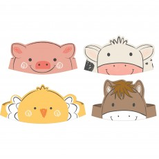 Barnyard Party Supplies - Assorted Design Crowns