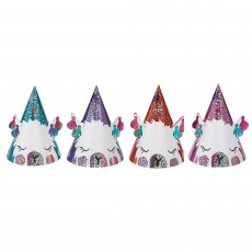 Llama Fun Mini Foil Cone Party Hats