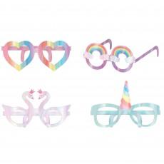 Magical Rainbow Party Supplies - Die-Cut Foil Glasses