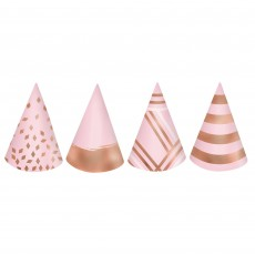 Blush Party Supplies - Party Hats Mini Cone