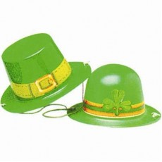 St Patrick's day Mini Plastic Hat Costume Accessorie