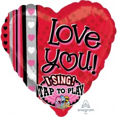 Love Sing-A-Tune XL Stripes Singing Balloon
