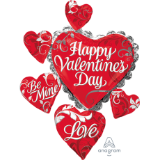 Valentine's Day SuperShape Cluster Shaped Balloon