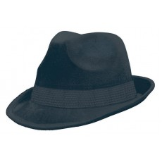 Black Fedora Velour Hat Head Accessorie