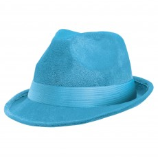 State of Origin Light Blue Fedora Velour Hat Head Accessorie