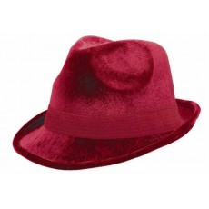 State of Origin Burgundy Velour Fedora Hat Head Accessorie