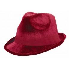 State of Origin Party Supplies - Velour Fedora Hat Burgundy