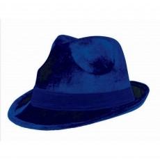 Blue Navy Fedora Velour Hat Head Accessorie