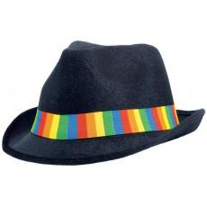 Rainbow Fedora Velour Hat Head Accessorie