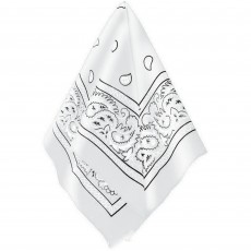 Cowboy & Western White Bandana Head Accessorie