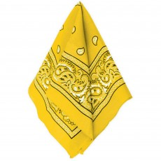 Cowboy & Western Yellow Bandana Head Accessorie