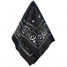 Cowboy & Western Black Bandana Head Accessorie