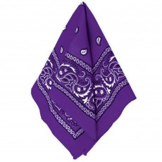 Cowboy & Western Purple Bandana Head Accessorie