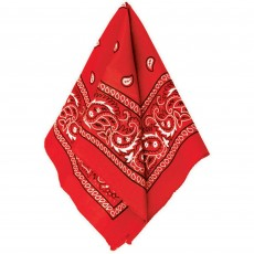 Cowboy & Western Red Bandana Head Accessorie