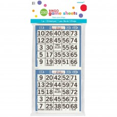 Party Games Party Supplies - Bingo Game Sheets