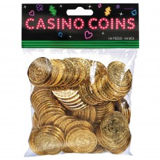 Casino Party Decorations Place Your Bets Gold Coins Party Games