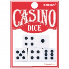 Casino Party Decorations Place Your Bets Playing Dice Party Games