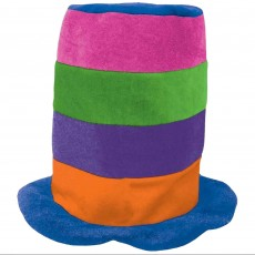 Rainbow Tall Top Hat Head Accessorie
