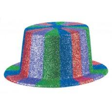Rainbow Glitter Top Hat Head Accessorie