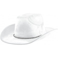 Cowboy & Western White Velour Cowboy Hat Head Accessorie