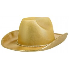Cowboy & Western Gold Velour Cowboy Hat Head Accessorie