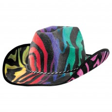 Cowboy & Western Rainbow Velour Cowboy Hat Head Accessorie