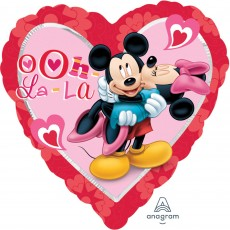 Love Standard XL Mickey & Minnie Shaped Balloon