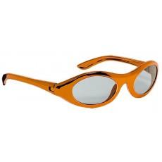 Orange Oval Metallic Glasses Head Accessorie