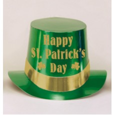 St Patrick's day Party Supplies - Green Foil Top Hat