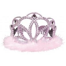 Iridescent Pink Marabou Tiara