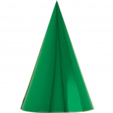 Metallic Multi Coloured Cone Party Hats 17cm Pack of 12