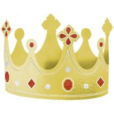 Gold Party Supplies - Foil Crown