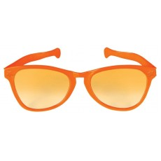 Orange Giant Plastic Sunglasses Costume Accessorie