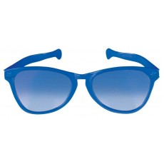 Blue Party Supplies - Jumbo Glasses Blue