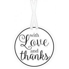 Love Party Supplies - Tags White