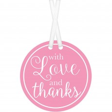 Love Party Supplies - Tags New Pink