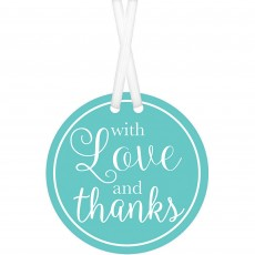 Love Party Supplies - Tags Robin Egg Blue