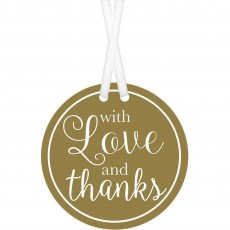 Love Party Supplies - Tags Gold