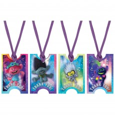 Trolls World Tour Ribbons & Tags Thank You Cards 5cm x 7.6cm Pack of 8
