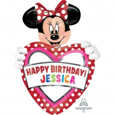 Minnie Mouse SuperShape XL Personalized Shaped Balloon