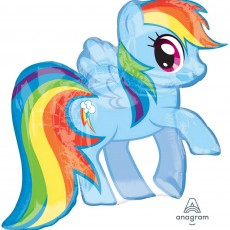 My Little Pony Party Decorations - Shaped Balloon SuperXL Rainbow Dash
