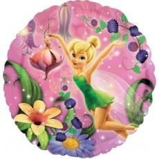 Round Disney Fairies Tinker Bell Standard HX Foil Balloon 45cm