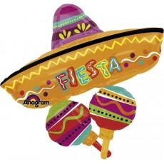 Fiesta SuperShape Fun Hat Cluster Shaped Balloon