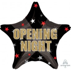 Hollywood Star Opening Night Foil Balloon