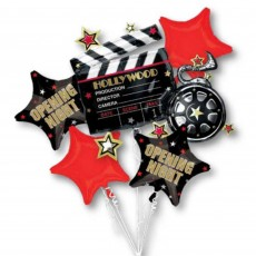 Hollywood Bouquet Shaped Balloons Pack of 5