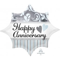 Anniversary Elegant Junior Shape XL Shaped Balloon