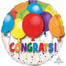 Congratulations Bold Balloons Congrats! Foil Balloon 10cm