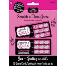 Bachelorette Scratch/Dare Party Games Pack of 12